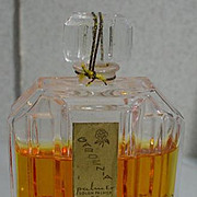 SOLD Vintage Commercial Perfume, Gardenia, Chex Bottle, 1950's