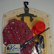"""Mattel Ken """"Hunting Shirt"""" Pak Set, 1963, MOC!"""