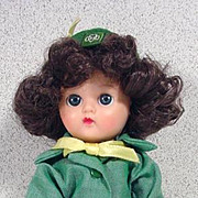 """Cosmopolitan Ginger Girl Scout 7 1/2"""" Doll, 1958, Terri Lee Outfit"""