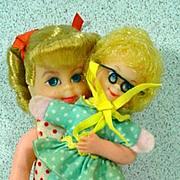 Mattel Tiny Buffy & Mrs. Beasley Dolls, 1968