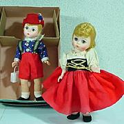 "Madame Alexander Vintage 8"" Hansel and Gretel Dolls, 1970's"