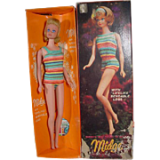 Mattel Bend Leg Midge Doll with Rare Hair-do, Box and Accessories, 1965