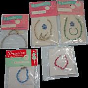 Lot of Vintage Premier Doll Jewelry MOC, 1950's-60's