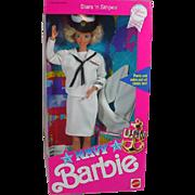NRFB Stars 'n Stripes Navy Barbie, 1990. Mattel