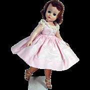 Vintage Madame Alexander Cissette in Pink Day Dress, 1960's