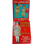 2 Un-Cut Paper Dolls Books, Paper Dolls from the 1920's and Early 1900 ...