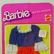 Never Removed From Card Barbie Best Buy Bicentennial Outfit, 1976, Mattel.