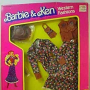 SOLD Never Removed From Box Barbie Western Fashion, Westward Ho, Mattel, 1981.