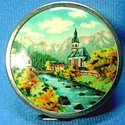 SOLD Retractable Sewing Tape Scenic Church by the River