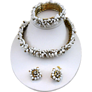 SALE Vintage Signed Freirich Necklace, Bracelet and Earrings