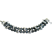 Vintage Rhinestone Bracelet Signed Weiss