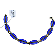 SALE Signed Sterling Enamel Bracelet - Norway