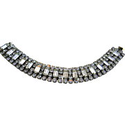 SALE Vintage Weiss Rhinestone Bracelet