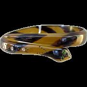 SALE Vintage Celluloid Snake Bracelet