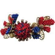 Beautiful Miriam Haskell Beaded Pin