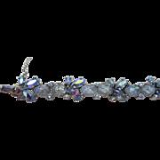 SALE Trifari Art Glass Lava Stone Link Bracelet