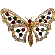 SALE Eisenberg Ice Butterfly Rhinestone Pin