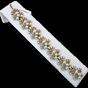 Kramer Rhinestone and Faux Pearl Bracelet