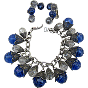 Napier Vintage Charm Bracelet and Earrings
