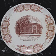 REDUCED Flatbush Trust Company Calendar Plate 1911 Brooklyn, NY