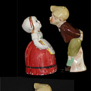 SALE Old Dutch Girl and Boy Don't Kiss Me I Am Busy Salt & Pepper ...