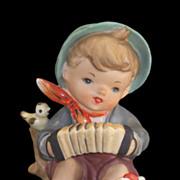 SALE Vintage Lipper & Mann Boy with Birds Playing Squeezebox Figurine