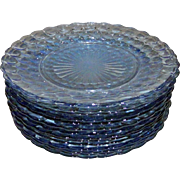 Anchor Hocking Fire King Blue Bubble Dinner Plates Set of 14