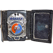 1964 New York World's Fair Police Badge in Original Leather Case