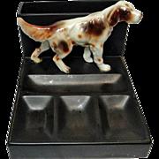 SOLD Setter or Springer Spaniel Dog Desk Tray