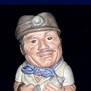 Royal Doulton Mike Mineral the Miner Toby Jug D6741 Miniature Doultonville Collection 1985
