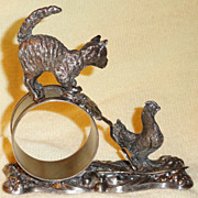 SOLD Victorian Figural Silver Plate Napkin Ring C 1880 -1900