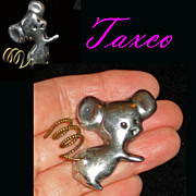 Taxco Mexico Sterling Puffed Mouse Pin