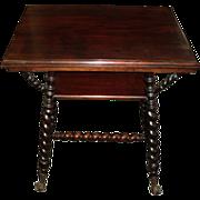 SALE Mahogany Merklen Brothers Parlor Table, Circa 1895