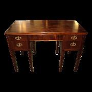 "SALE Mahogany Writing Knee-Hole Desk + Chair, ""Hepplewhite Style"", ON SALE!"