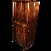 SALE Antique Mahogany Empire Liquor Cabinet Bar, ON SALE!