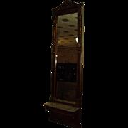 Antique Victorian Walnut Pier Mirror, circa 1880s-90's