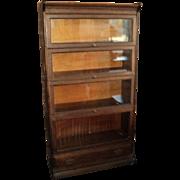 Antique Four Stack Oak Lawyer's Bookcase