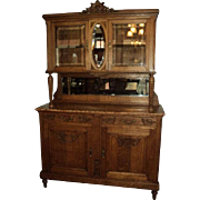 SALE French Marble Top Buffet/China Cabinet