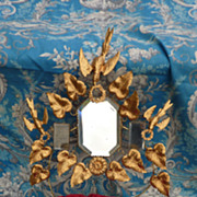 SOLD French faded grandeur ormolu wedding cushion display stand  DOVES