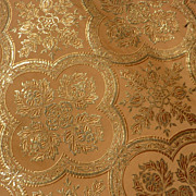 SOLD Small morceau antique luxury gold metallic and silk fabric / material
