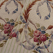 SOLD Delicious pair French needlepoint chair covers ROSES  silk wool