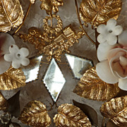 SOLD Delicious ormolu wedding cushion  display stand ROSES