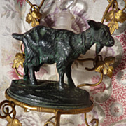 SOLD 19th C. French perfume watch holder display stand GOAT