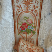 SOLD 19th C French passementerie trim floral bouquets + 4 yards