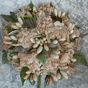 SOLD Romantic French bride's wax artificial flower wedding bouquet