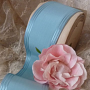 SOLD 8 yards Vintage light blue ribbon unused projects 289 inches