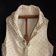 SOLD Rare French child's waistcoat gold thread late 1700's Directoire