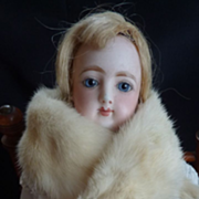 SOLD Rare Antique French fashion doll ermine fur stole or collar