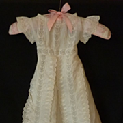 SOLD Adorable antique baby christening gown robe dress broderie anglaise