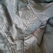 SOLD Elegant late 18th C. French ladies  pearl grey and pink shot silk bodice jacket  label da